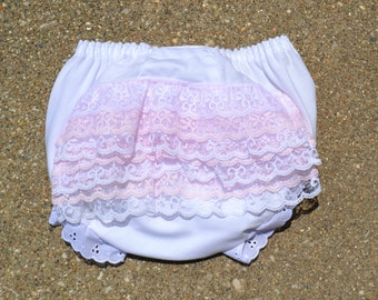 Vintage look lace bloomers,  ruffle bloomers, shabby chic bloomers