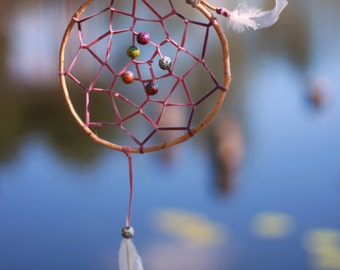 "Pink dream catcher ""Blond dream"" Traditional dreamcatcher  Girly talisman"