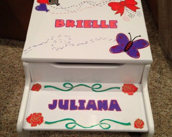 Personalized Step Stool Etsy
