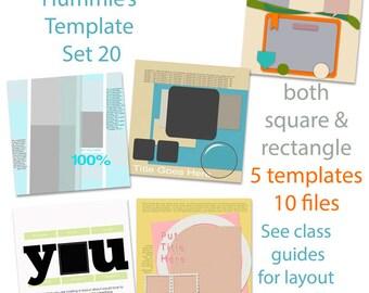 Digital Scrapbooking Template Set 20