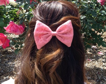 Salmon Lace Bow