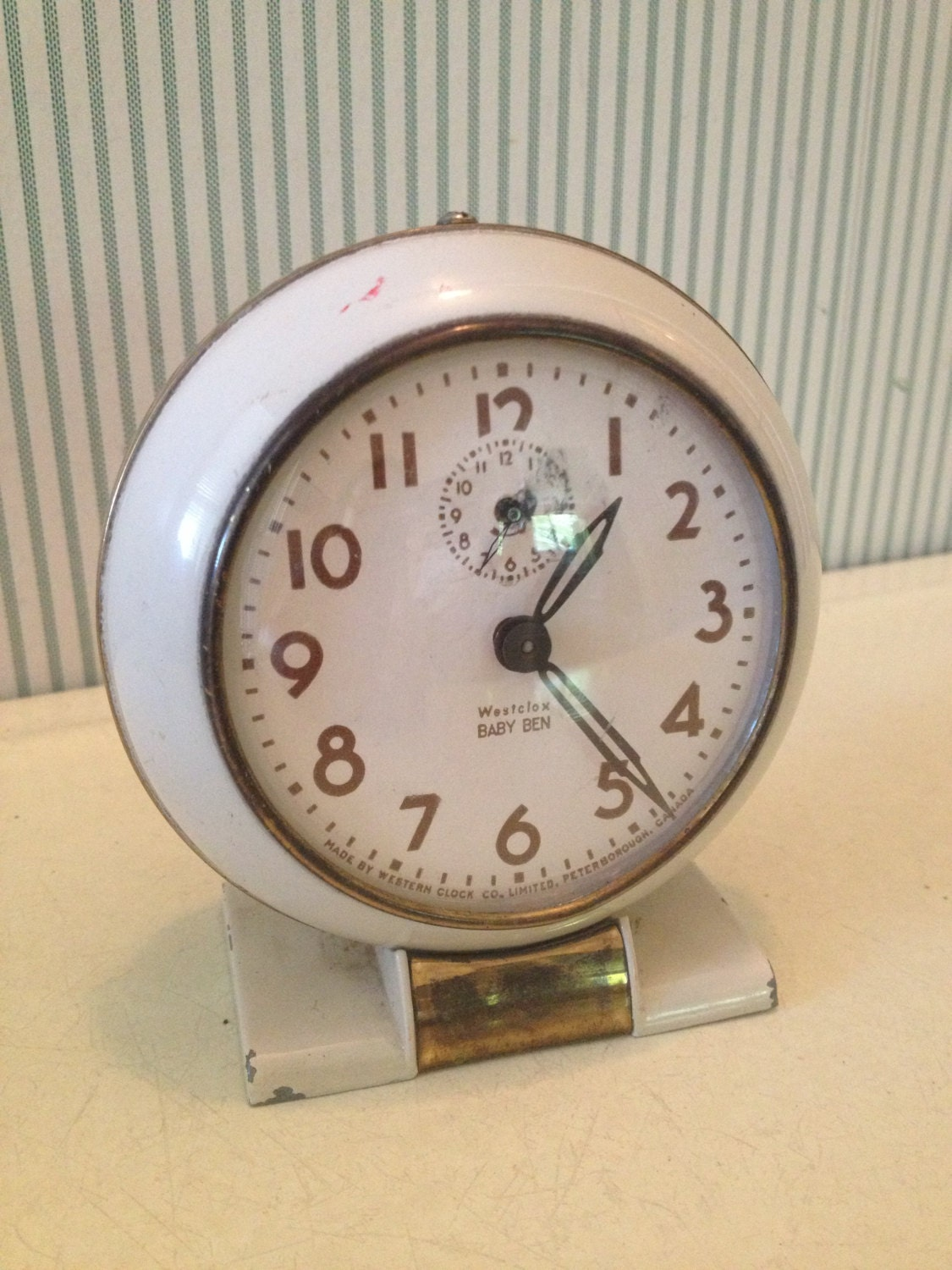 Vintage Westclox Baby Ben Wind Up Alarm Clock