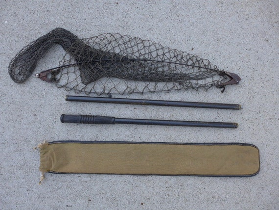 Items similar to vintage l l bean fishing net with case for Ll bean fishing
