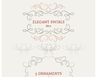 Elegant Swirls & Ornaments - Set 2