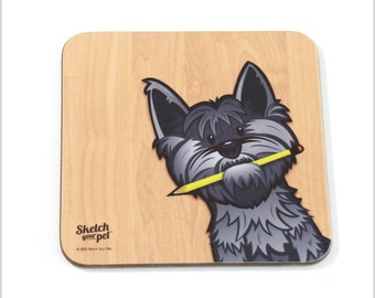 Harry the cairn terrier coaster