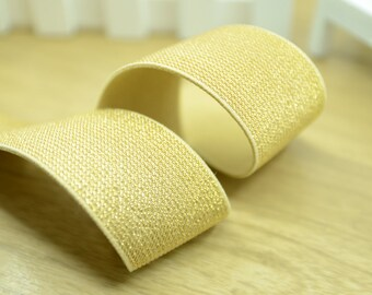 "1.5"" 38mm Wide Gold Glitter Khaki Elastic Band by the Yard, Elastic Trim, Waistband Elastic,Elastic Ribbon,Sewing Elsastic 31150"