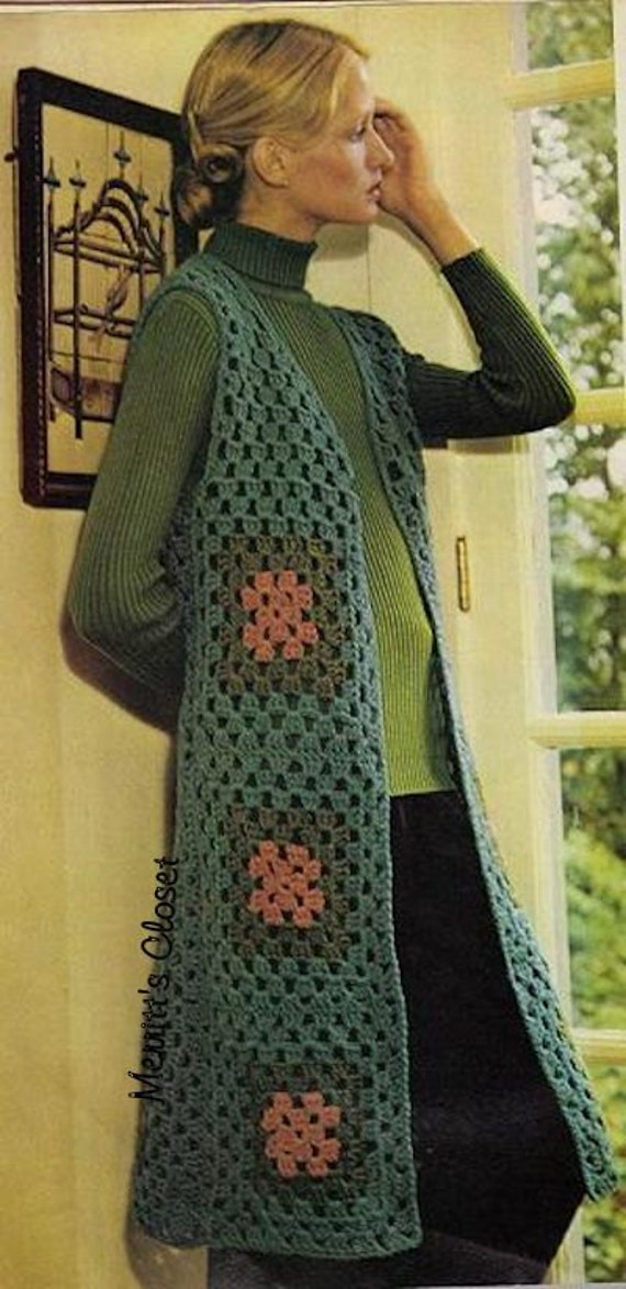 Crochet Granny Square Vest Pattern : MaKe A Granny Squares Vest Easy Instructions by MerrittsCloset