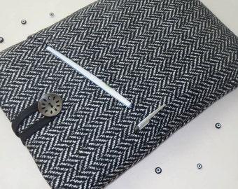 White Black Herringbone, ipad air 2 case ,iPad Case,Nexus 10, ipad air 2 cover, Galaxy Note 10.1 - iPad Bag, ipad cover, cute ipad air case