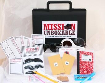 secret agent spy science kits by missionunboxable on etsy. Black Bedroom Furniture Sets. Home Design Ideas
