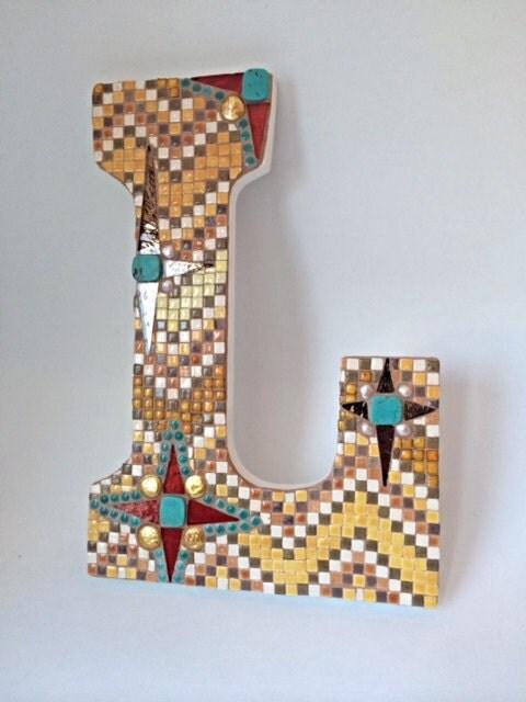 Mosaic Letter L Initial Letter L Southwest Colors