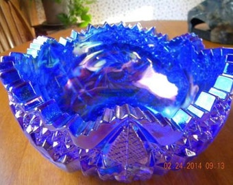 Vintage Carnival Glass Bowl 1930's