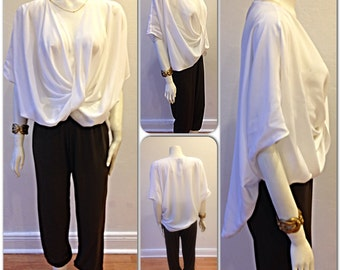 S/S Olivia Silk Cowl Top