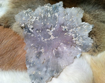 Amethyst and quartz flower from Brazil