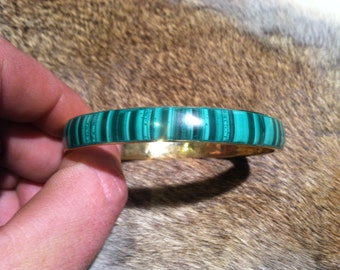 Malachite and Bronze Bracelet