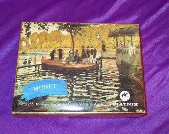 Vintage Monet Made in Austria Playing Cards