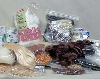 Loads Of Hair For Doll Re-Rooting In Several Colors