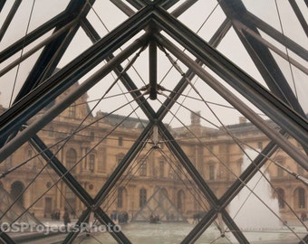 Louvre's Glass Pyramid Photography - Paris Photography - Wall Art - Room Decor