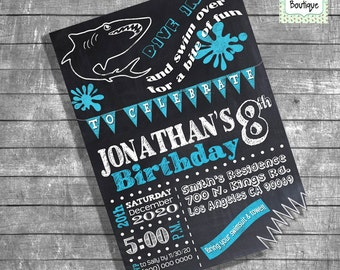 Birthday Pool Party Invitation Joint Pool Party Invite