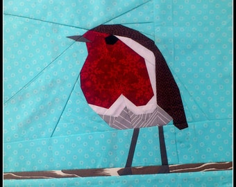 Robin Red Breast- A Paper Pieced Pattern