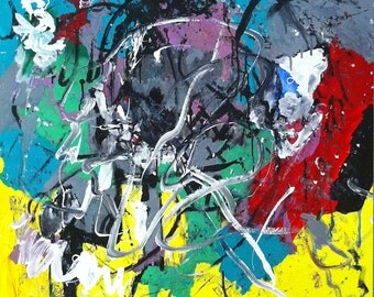 Original 90x90cm abstract painting named Equinox #2
