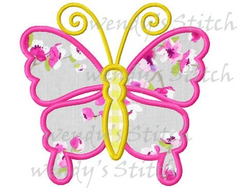 Butterfly machine embroidery design digital pattern