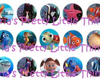 Finding Nemo 1 inch Bottle Cap Images (4x6)