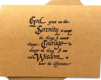 7 serenity prayer blank note cards and envelopes. Christian note cards, all occasion cards.