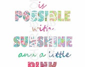 Lilly Pulitzer Inspired Wall Art Quotation With Printed Letters - PRINTABLE DOWNLOAD