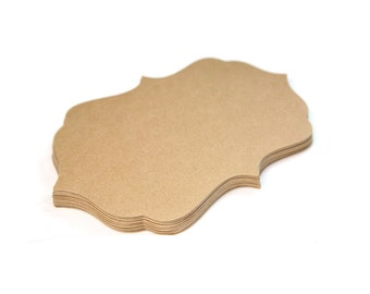 """Large Place Cards - Die Cut Cards - Large size (3.5"""" x 5.5"""") - Set of 24"""