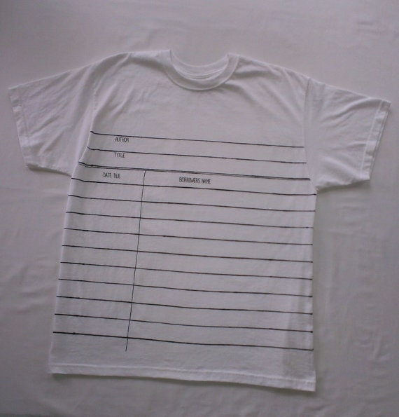 Items similar to Library Due Date Card Graphic© T-shirt ...