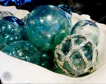 Nautical Collection - Glass Floats and Rope - Digital Image Download - Boats - Digital Licence Included