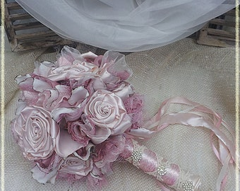 Vintage Pink Wedding Bouquet
