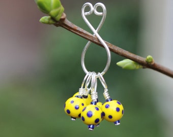 Polka Dot Sky - Stitch Markers - Knitting or Crochet