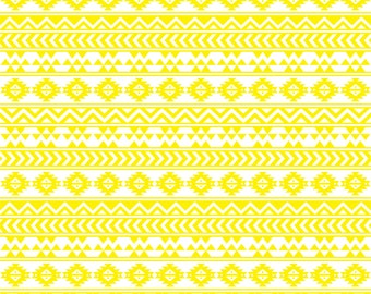 Yellow and white tribal pattern craft  vinyl sheet - HTV or Adhesive Vinyl -  Aztec Peruvian pattern HTV931