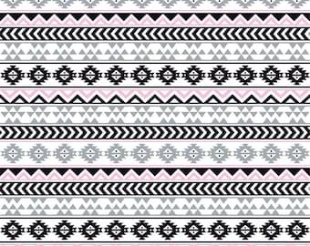 Gray black light pink and white tribal pattern craft  vinyl sheet - HTV or Adhesive Vinyl -  Aztec Peruvian pattern grey HTV918