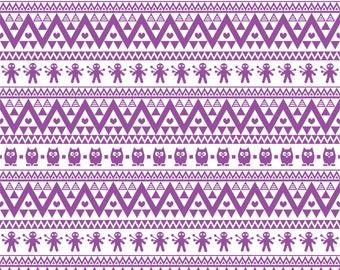 Purple owl tribal pattern craft  vinyl sheet - HTV or Adhesive Vinyl -  Aztec Peruvian pattern HTV317