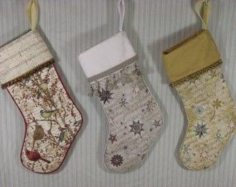 Christmas stocking; stocking; gift stocking; Music Christmas stocking