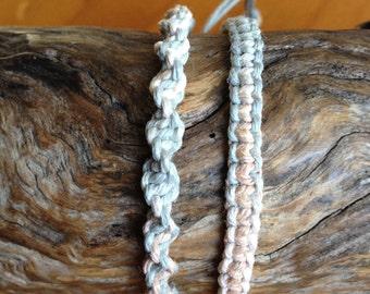 Handmade Hemp Friendship Bracelet or Anklet - Sandalwood