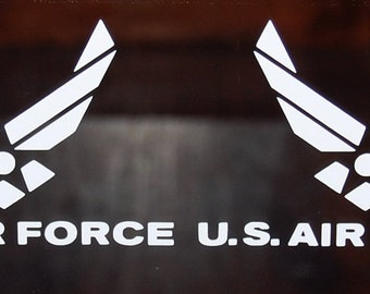 2X Us air force vinyl decal stickers pick color