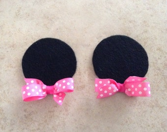 Mouse Ears Hair Clips