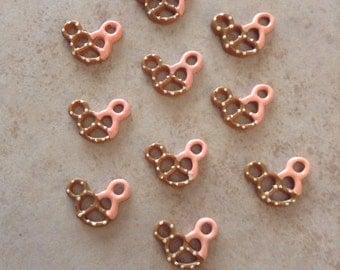 10 Mickey Head Pink Pretzel Resins