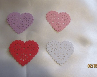 heart  eyelet die cut