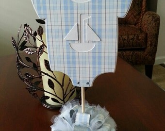 Baby Boy Centerpiece / Baby Shower Centerpiece