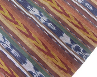 Handwoven Ikat Fabric (#18) - Ethnic Fabric - Guatemalan Textile - 1 yard