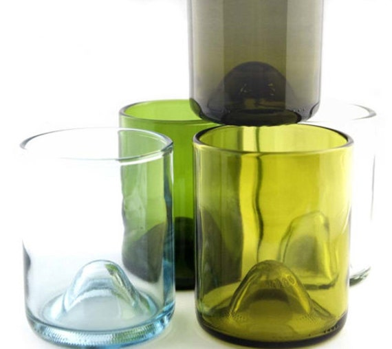 how to make drinking glasses from wine bottles