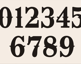 Items similar to NUMBER **STENCIL** 015TYP Numbers 0-9 - 7 Sizes ...