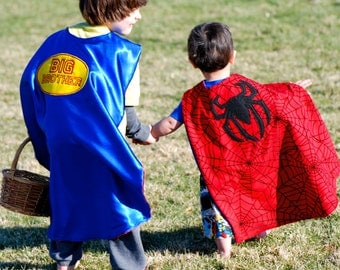 Big Brother cape/  Super Brother Cape/ Reversible cape/ Super Hero Cape