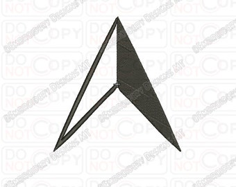 North Navigation Arrow Embroidery Design in 1x1 2x2 3x3 4x4 and 5x5 Sizes
