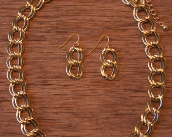 Double Chain Link Necklace, J Crew Inspired