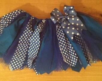 Royal Blue Scrap Fabric Tutu